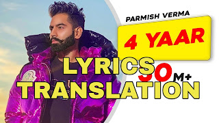 4 Yaar Lyrics in English | With Translation | – Parmish Verma | 4 Peg