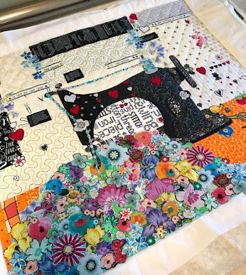 Laura Heine collage featherweight quilt