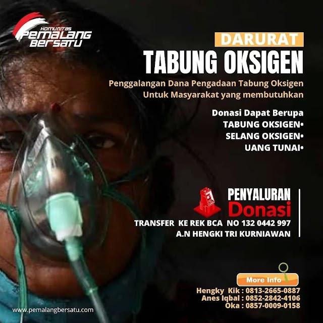 Open Donasi Pemalang Darurat Tabung Oxigen