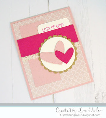 Lots of Love card-designed by Lori Tecler/Inking Aloud-stamps and dies from Lil' Inker Designs