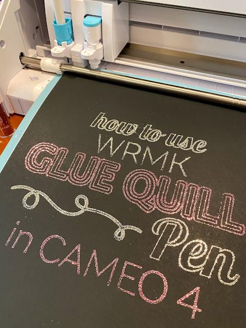 silhouette 101, silhouette america blog, foil quill, WRMK, Glue Quill Pen