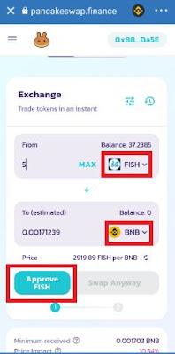 Proses Pertukaran Airdrop Dengan Crypto BNB Untuk Menghasilkan Uang