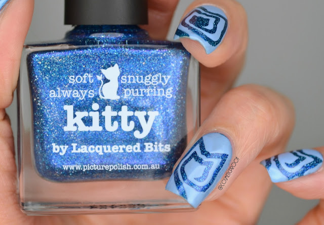 Picture Polish Kitty Nail Art