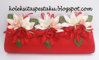 Tas Pesta Clutch Bag Cantik Mewah Merah Harga Terjangkau
