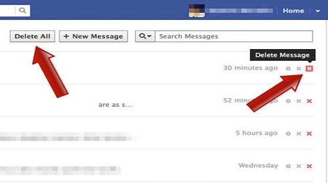 Cara Menggunakan Facebook Fast Delet Message