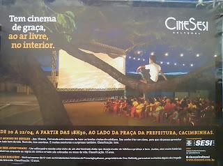 Cinesesi cultural em Cacimbinhas dia 20 A 22 de Abril gratuito.