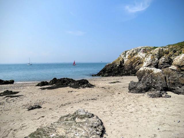 Day trip to Ireland's Eye Island - beach