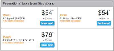 giá vé khuyến mãi Tiger Air bay Singapore