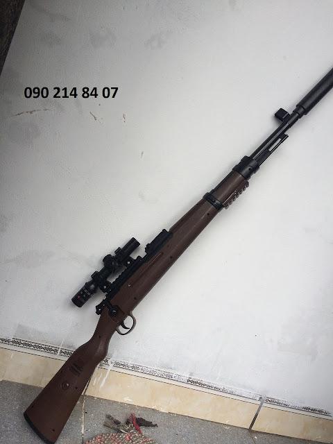 Súng bắn đạn thạch K98 110cm_2