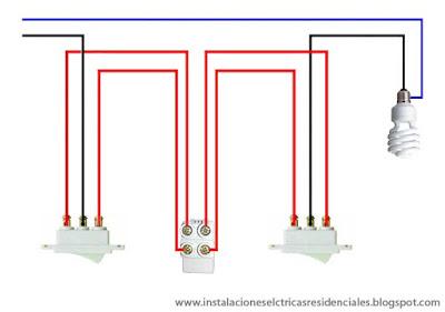Instalaciones eléctricas residenciales - apagadores de cuatro vías