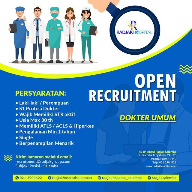Loker Dokter RS dr. Abdul Radjak Salemba Jakarta Pusat