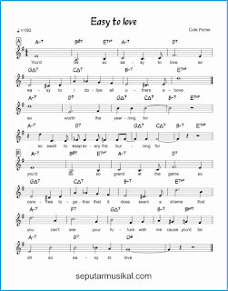chord easy to love lagu jazz standar