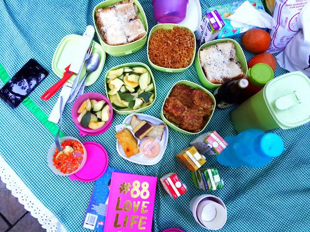 Piknik, Taman, Suropati, Bekal, Makanan, Bento