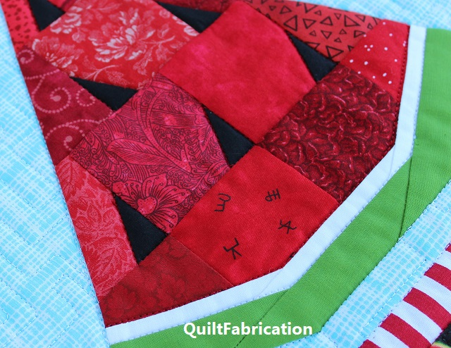Watermelon Twist wedge by QuiltFabrication