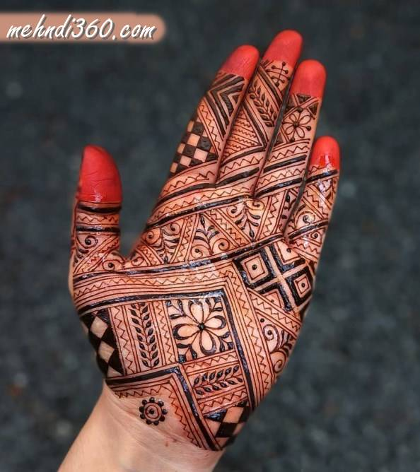 Front Hand Indian Mehndi Design