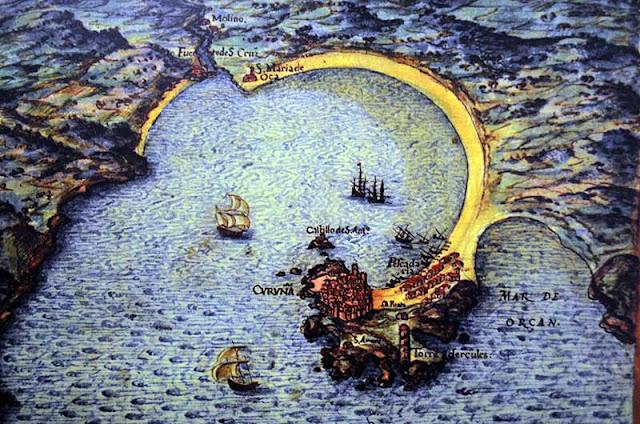Mapa histórico de A Coruña
