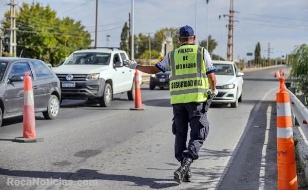 Estos son los puntos de control policial en los accesos a Roca