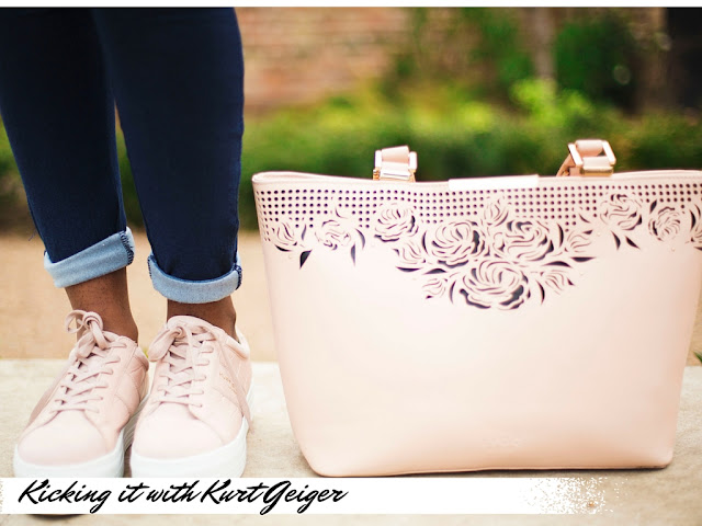 Pink LYDC BAG AND KURT GEIGER LADBROOK TRAINERS