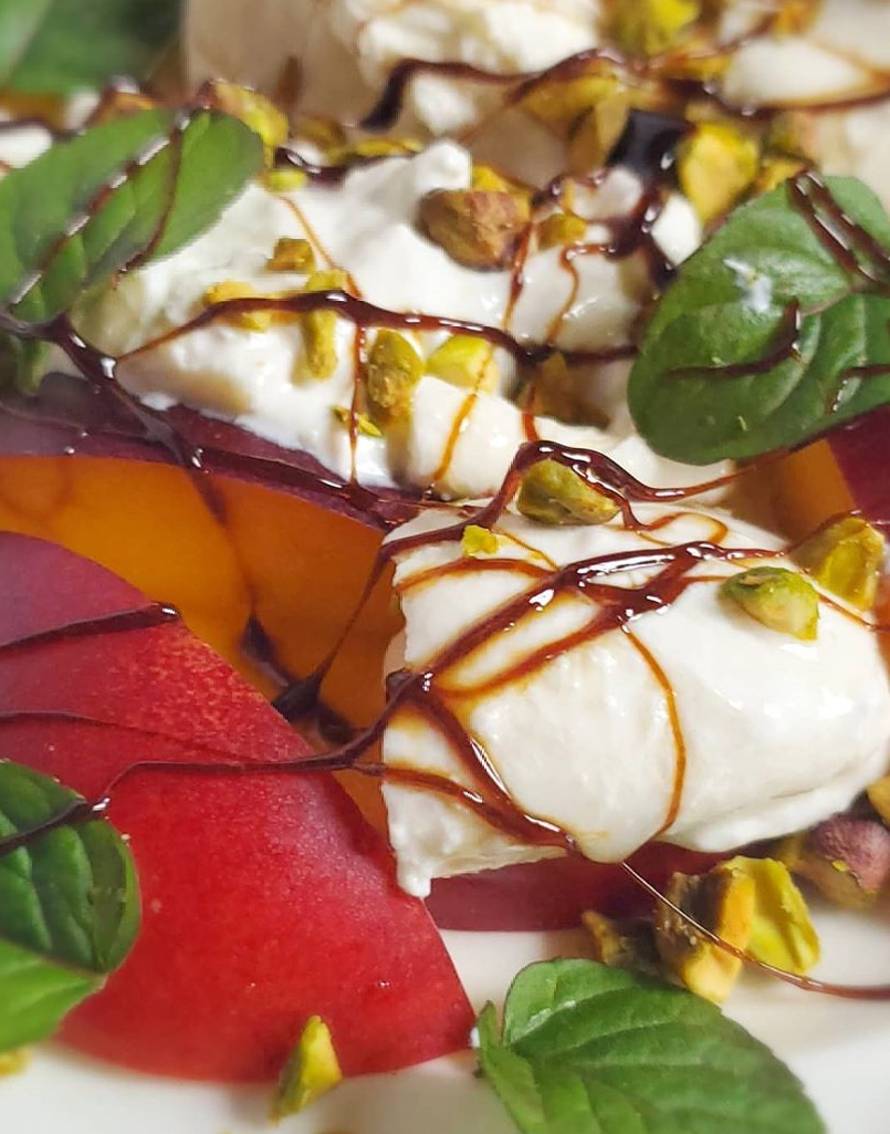 Peach + Burrata Summer Salad