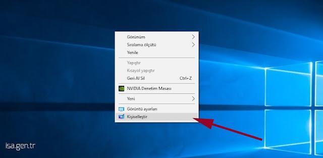 windows 10 kişiselleştir