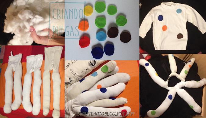 Disfraz de pulpo DIY para carnavalPaso a paso