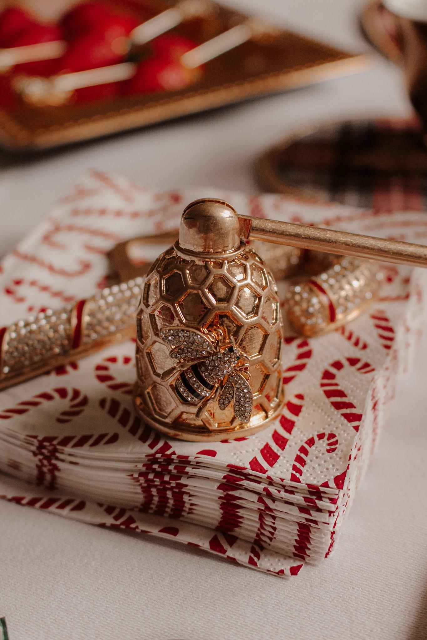 Joanna Buchanan Christmas Table Setting Candle Snuffer