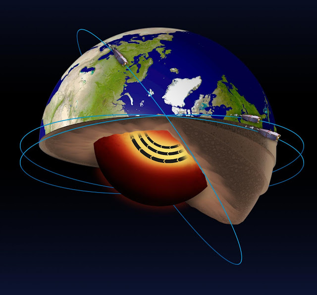 Satellites help discover a jet stream in the Earth's core