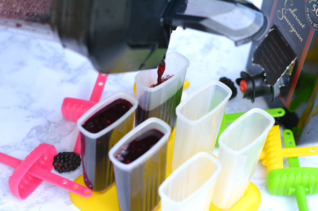 wine ice pops