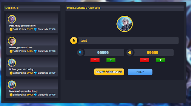 Mltweak.com mobile legend Hack Diamond dan coin Generator Terjitu