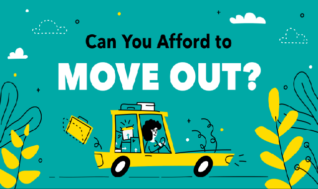 Can You Afford to Move Out? #infographic