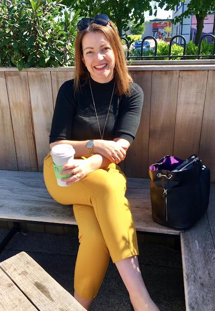 Mustard yellow trousers