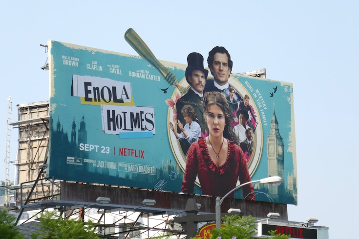 Enola Holmes Netflix movie billboard
