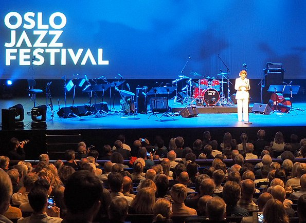 Queen Sonja of Norway attended the opening of the Oslo International Jazz Festival 2017 held at the Opera House in Oslo