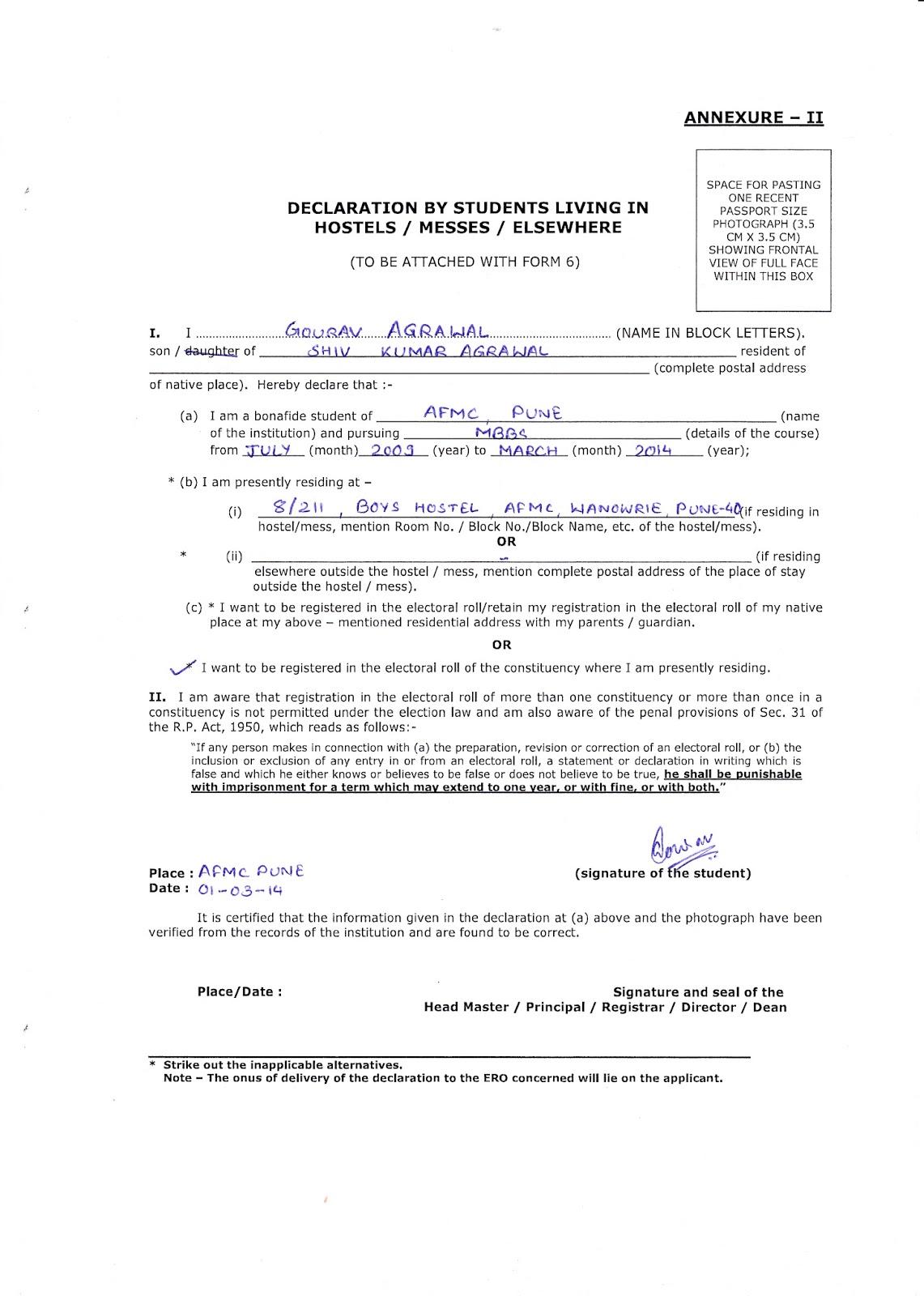 Statutory declaration letter format professional resume cv maker statutory declaration letter format statutory declarations attorney generals department declaration letter format a student declaration form spiritdancerdesigns Images