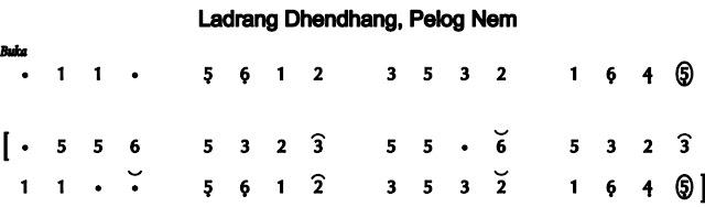 image: Ladrang Dhendhang Pelog 6