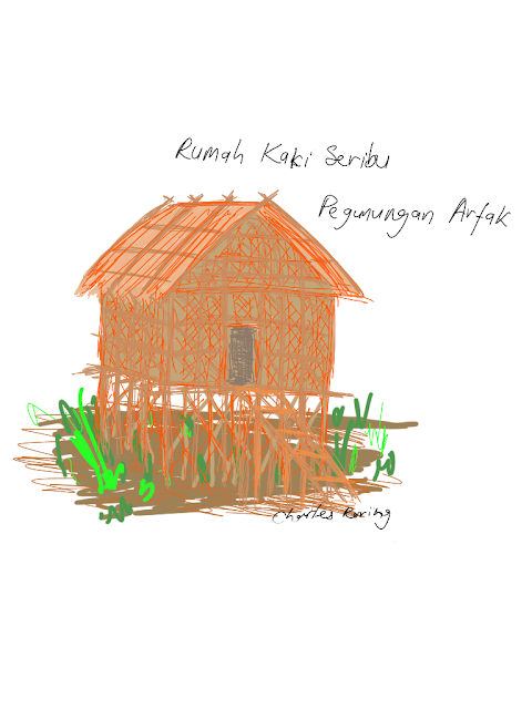 Drawing of Rumah Kaki Seribu