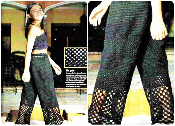 pantalon, crochet, ganchillo, punto malla, tutorial