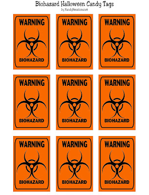 Biohazard Candy Tag Halloween Printable