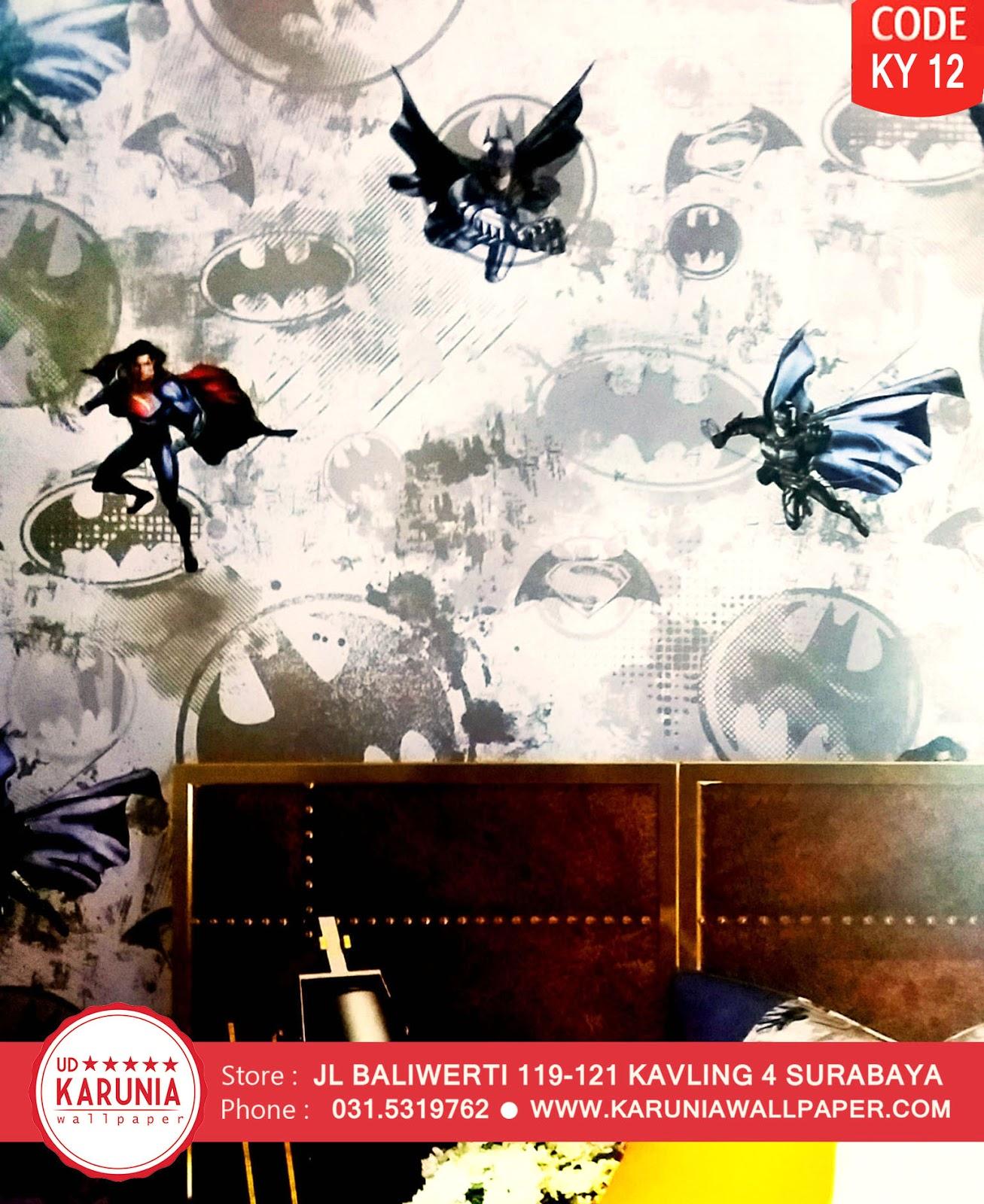 jual wallpaper dinding kamar anak laki motif superhero batman