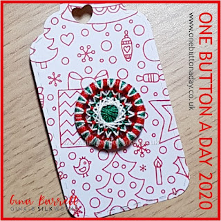 Day 341 : Season's Greetings - One Button a Day 2020 by Gina Barrett