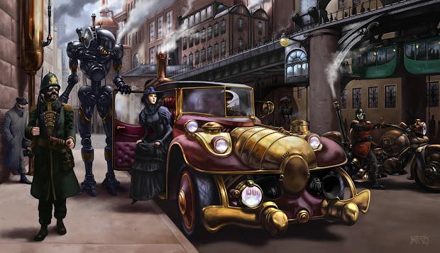 Steampunk . 80'. 1880'