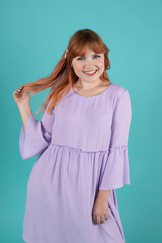 Indigo smock top and dress sewing pattern - Tilly and the Buttons