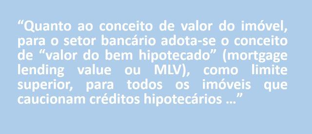 O Valor de Mercado como Base de Avaliação | João Fonseca | Avaliação de imóveis