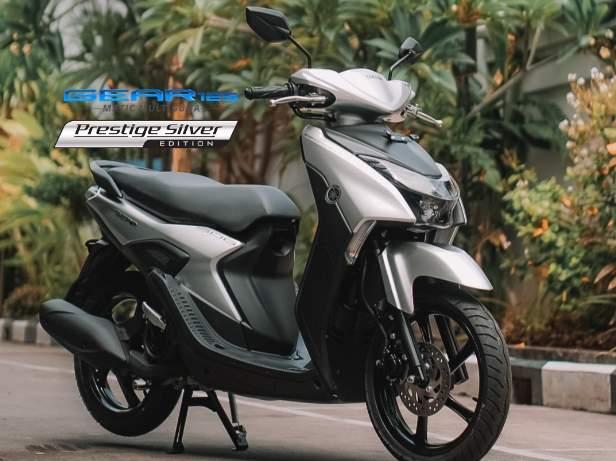 Mio Gear S Version warna Prestige Silver 2021