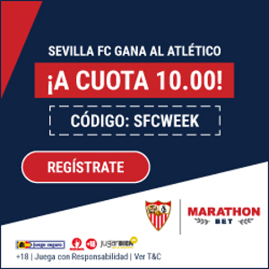 Marathonbet supercuota victoria del Sevilla al Atletico 2-11-2019