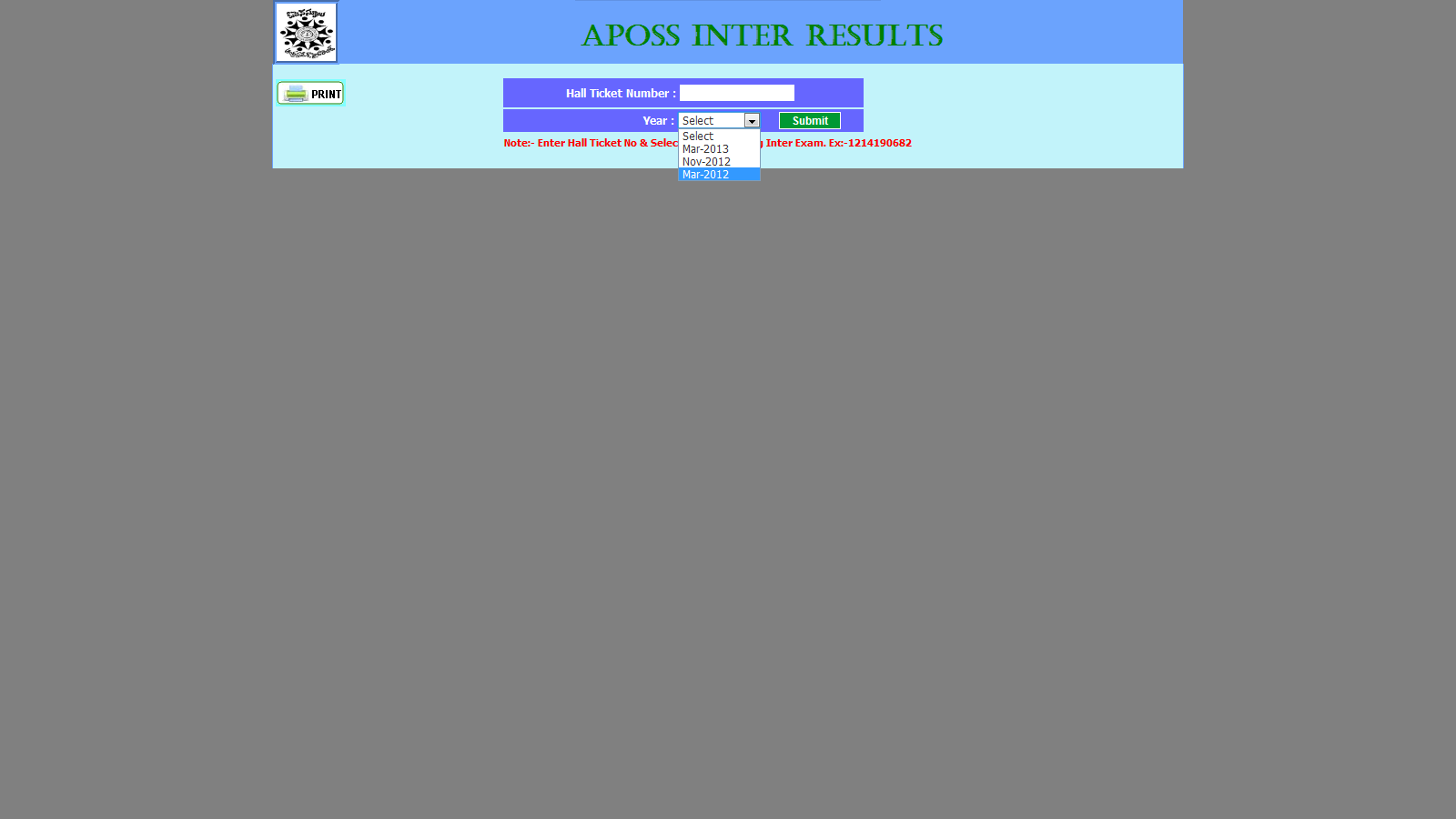 Gudresults : Download Open School INTER Marks Memo Andhra