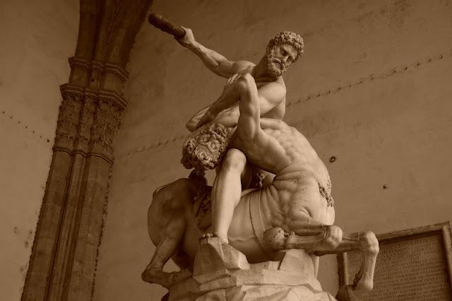 Hercule et le Centaure Nessus, Giambologna, 1598.