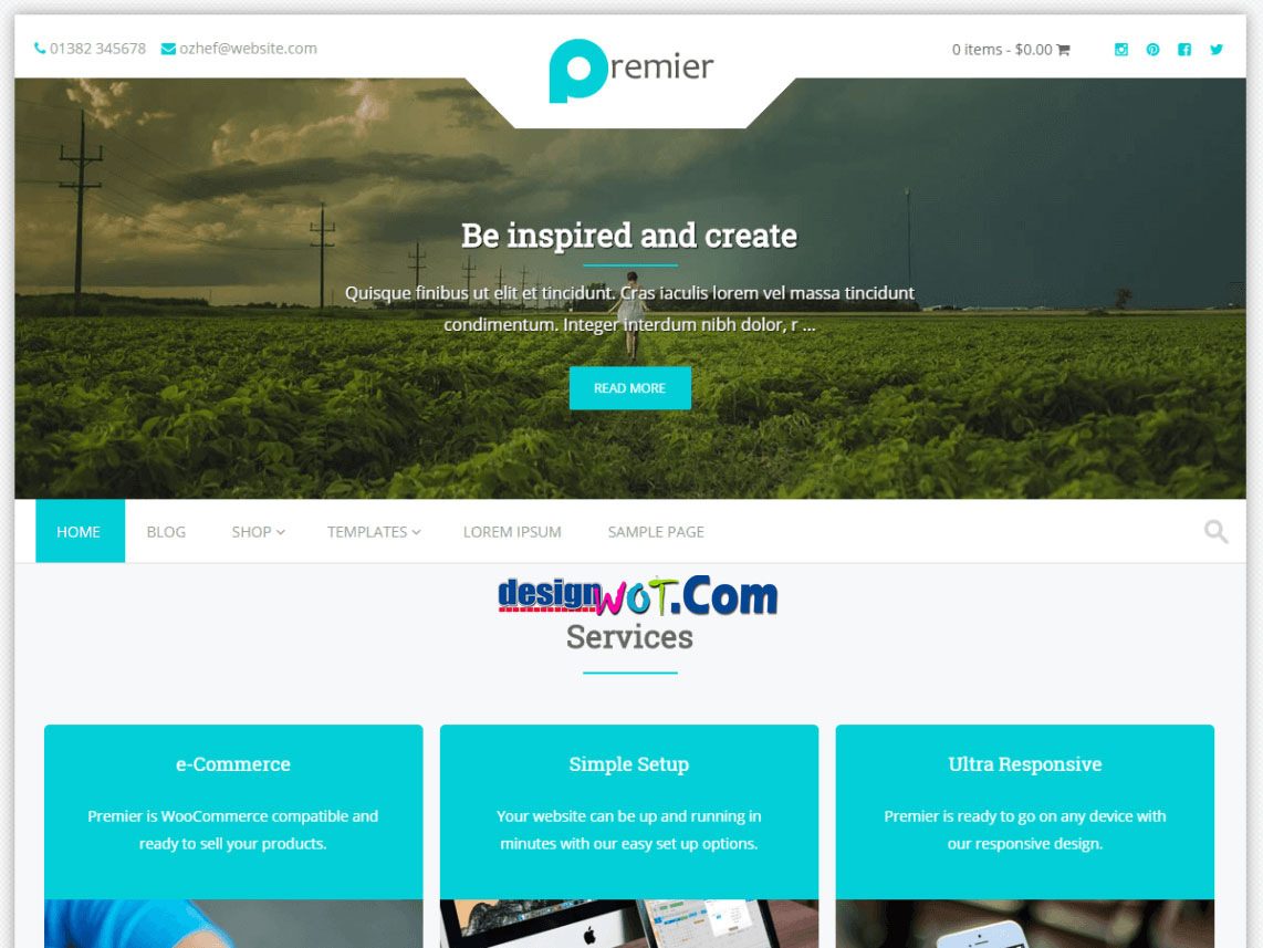 Premier WordPress Responsive Theme