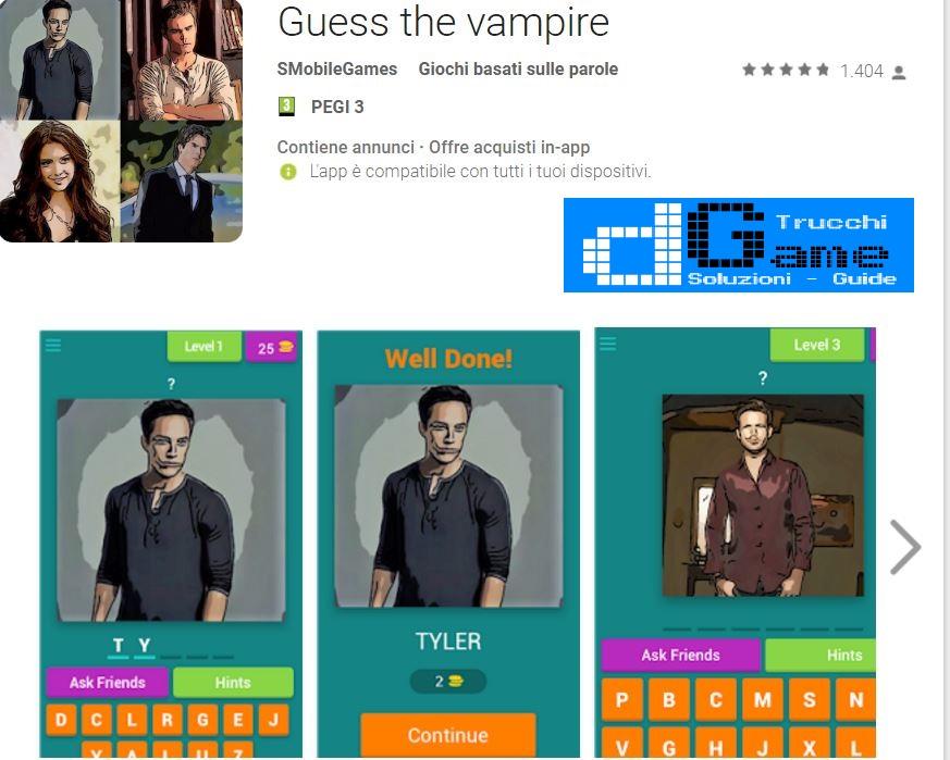 Soluzioni Guess The Vampire | Tutti i livelli risolti