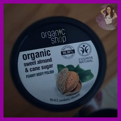 Organic Sweet Almond and Cane Sugar Foamy Body Polish